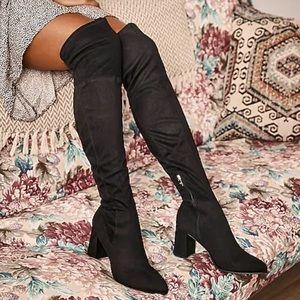 Zara suede over the knee boot